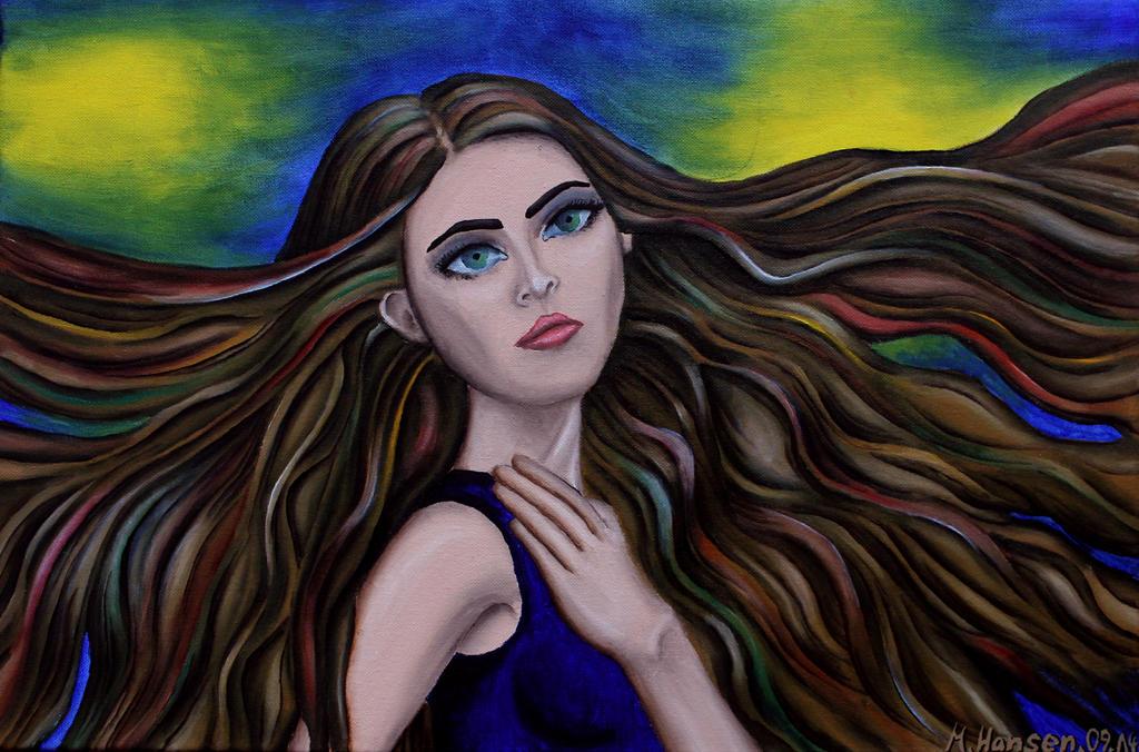 Girl in the Light by diemeyke