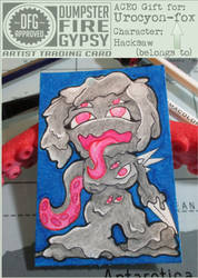 gift ACEO Urocyon-fox - Hacksaw by dumpsterfiregypsy