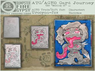 ACEO Journey - HackSaw process by dumpsterfiregypsy