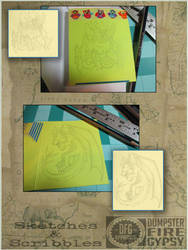 Sketches ATC inclusions vol 01 by dumpsterfiregypsy