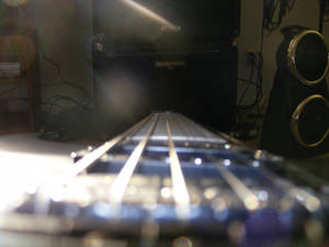 One fret infront of the other