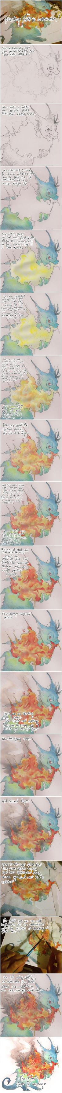 watercolor fire walkthrough by SZOPISKO
