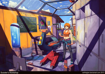 Scooter's Workshop by Carthegian