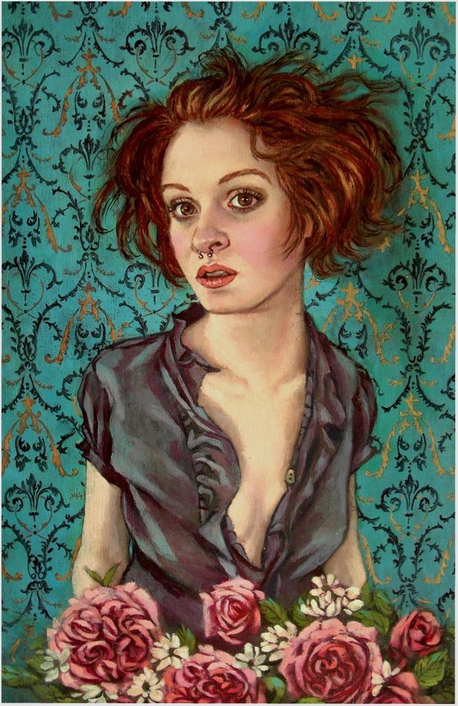 Rose girl..oil on linen by xxaihxx
