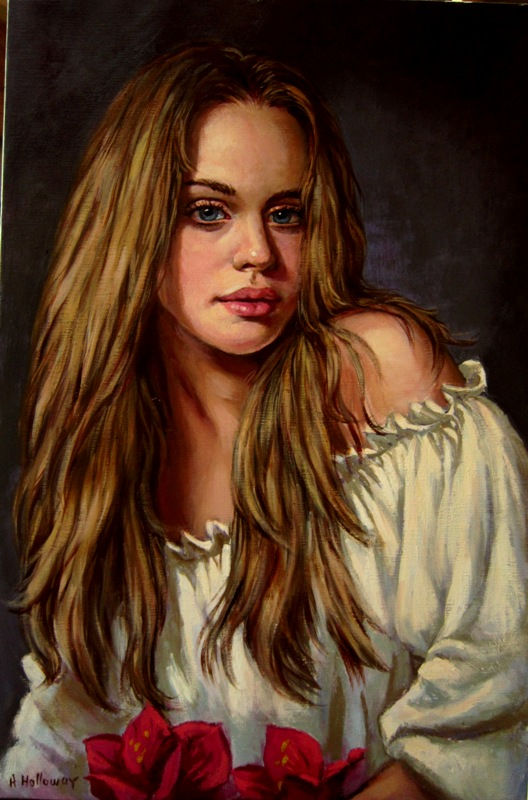 Darla..oil on linen by xxaihxx
