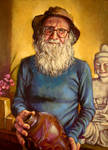 Col Levy the Potter..oils