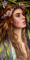 Ophelia..close up ..oils