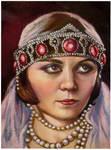 Pola Negri..oil painting