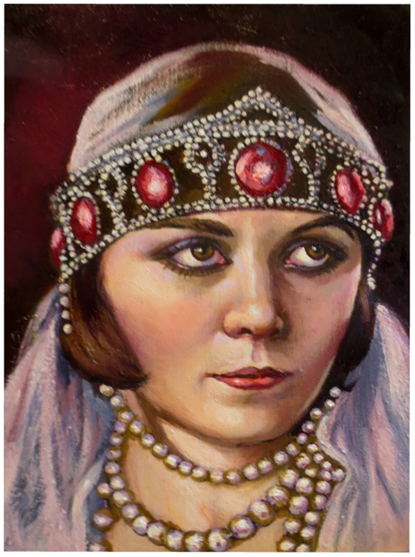 Pola Negri..oil painting by xxaihxx
