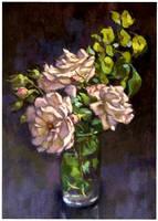Rose sketch 2..oils by xxaihxx
