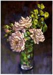 Rose sketch 2..oils