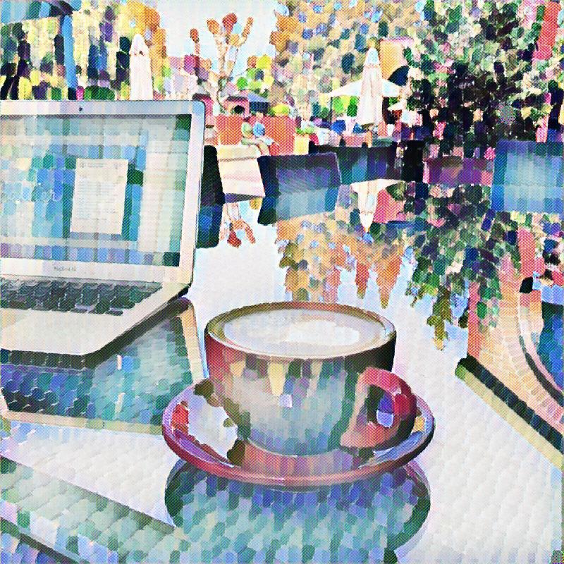 Delaunay Coffee 2 by FairfieldArt