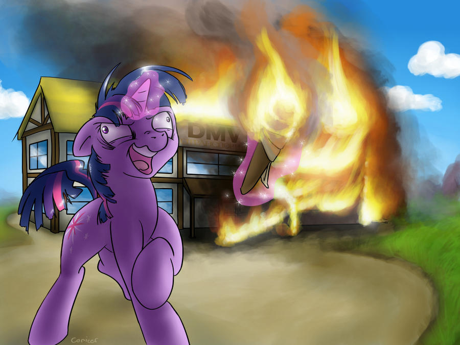 Twilight Sparkle Burns Down The DMV Cover by Conicer