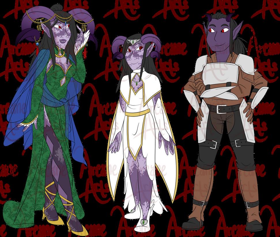 COM: Siasara, Almeivori, and Seriel by TheArcaneArts