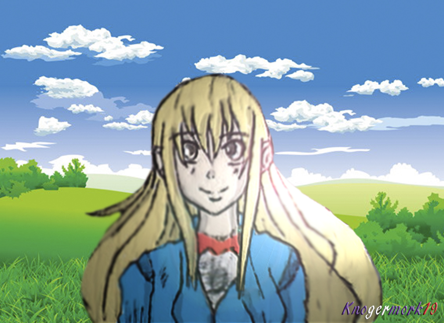anime girl happy at the nature by knogermork19 on deviantart