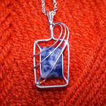 Sodalite and silver pendant
