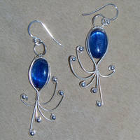 Kyanite Creature Earrings by innerdiameter