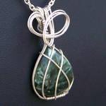 Seraphinite Pendant in Silver
