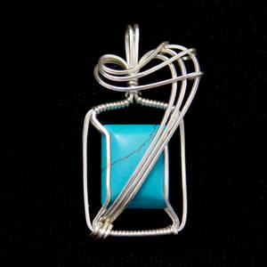 Square Turquoise In Silver