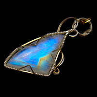 Moonstone Pendant in Au+Ag by innerdiameter