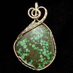 Turquoise Pendant in Gold