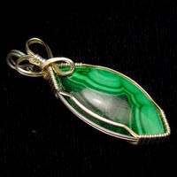 Malachite in Gold and Silver by innerdiameter