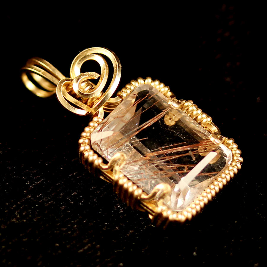 Rutilated quartz gold pendant by innerdiameter on deviantart for Golden rutilated quartz jewelry
