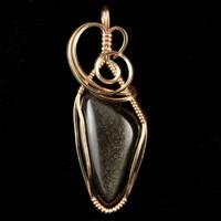 Gold Sheen Obsidian Pendant by innerdiameter