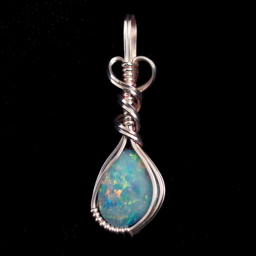 australian opal pendant by innerdiameter on deviantart