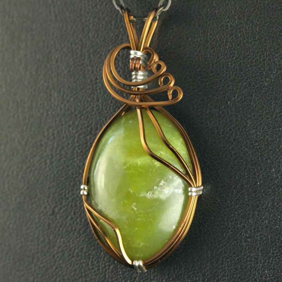 Olive Jade Pendant by innerdiameter