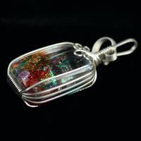 Dichroic Glass Pendant by innerdiameter