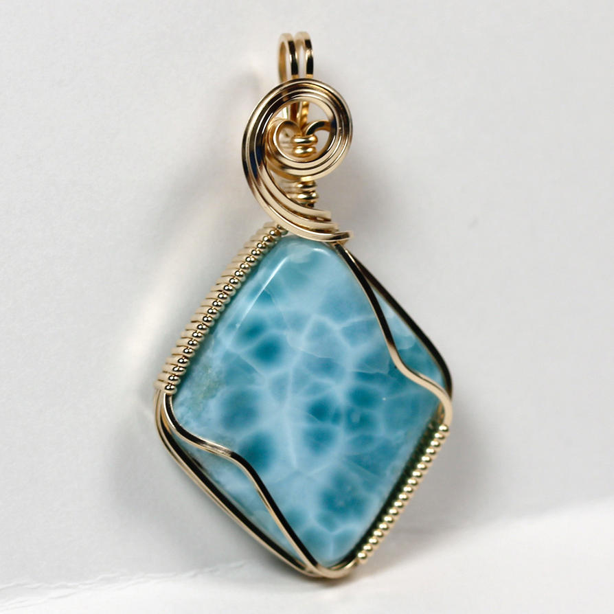 Larimar pendant in gold by innerdiameter on deviantart larimar pendant in gold by innerdiameter aloadofball