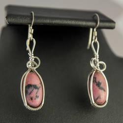 Rhodonite Earrings by innerdiameter