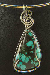 Turquoise Silver pendant by innerdiameter