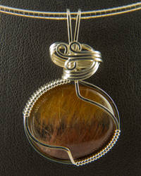 Bicolor Rutilated Quartz Pendant