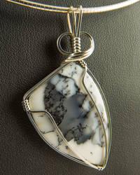 Dendritic Turkish Opal Pendant