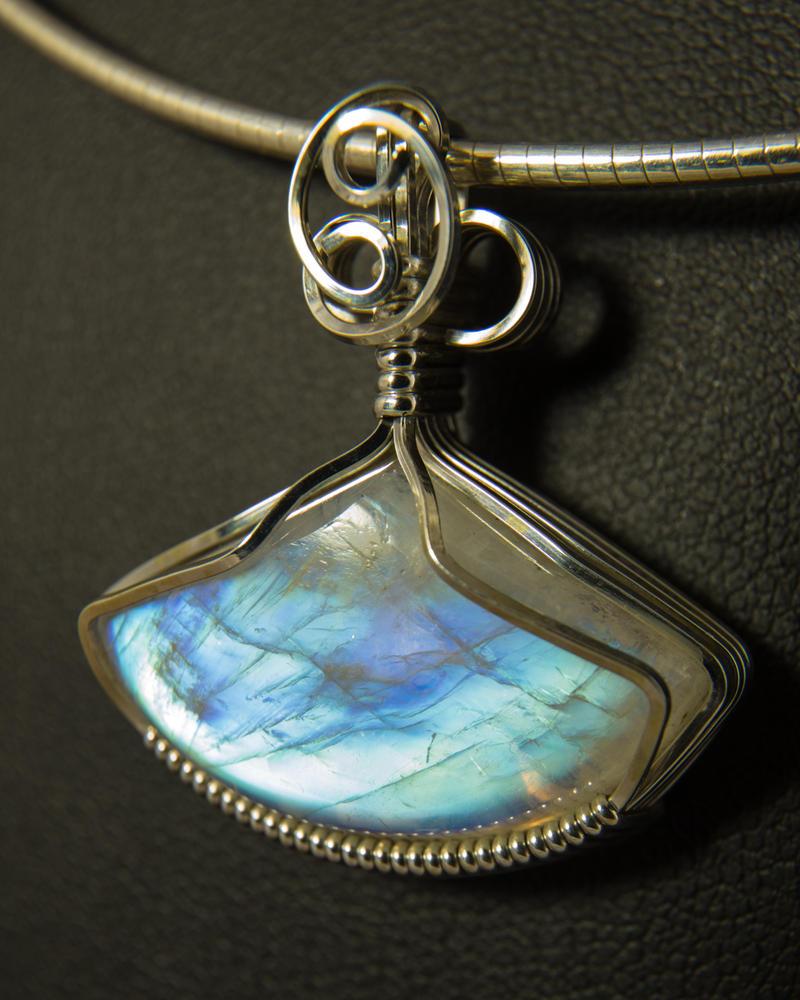 Moonstone Pendant in Silver by innerdiameter