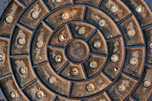 Rusty Manhole Cover by GrungeTextures