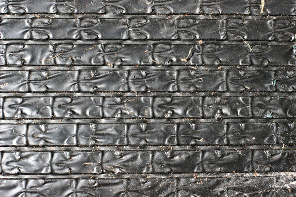 Black Rubber Mat by GrungeTextures