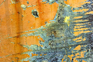 Peeling Orange Paint by GrungeTextures