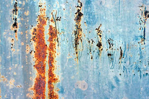 Rust on Blue Metal by GrungeTextures