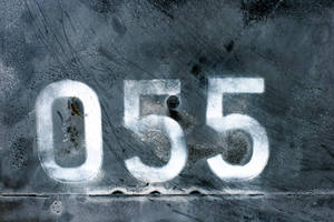 Faded Numbers on Black Metal by GrungeTextures