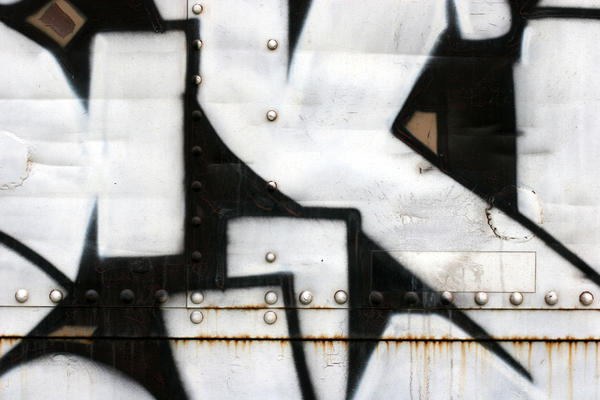 Graffiti on Metal Box Car by GrungeTextures