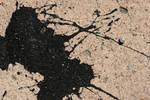 Splattered Black Paint