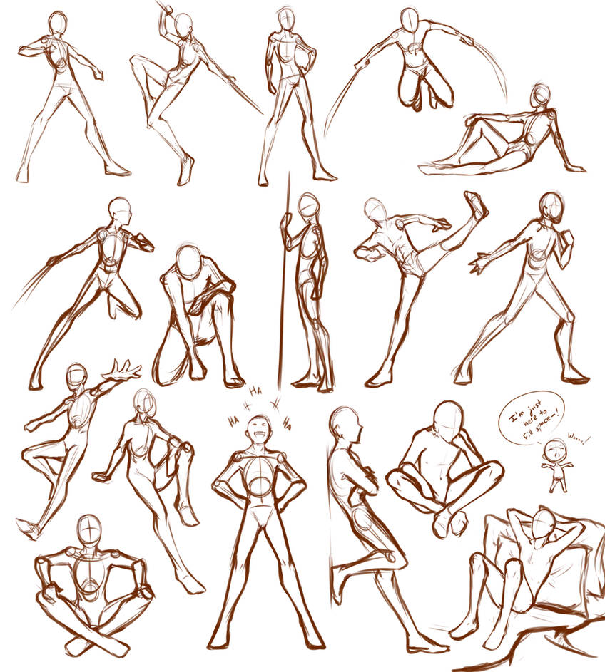 Male Poses By Lunallidoodles On Deviantart