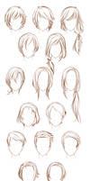 Male OC hairstyles by Lunallidoodles