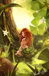 Shamrock Fairy by Lunallidoodles