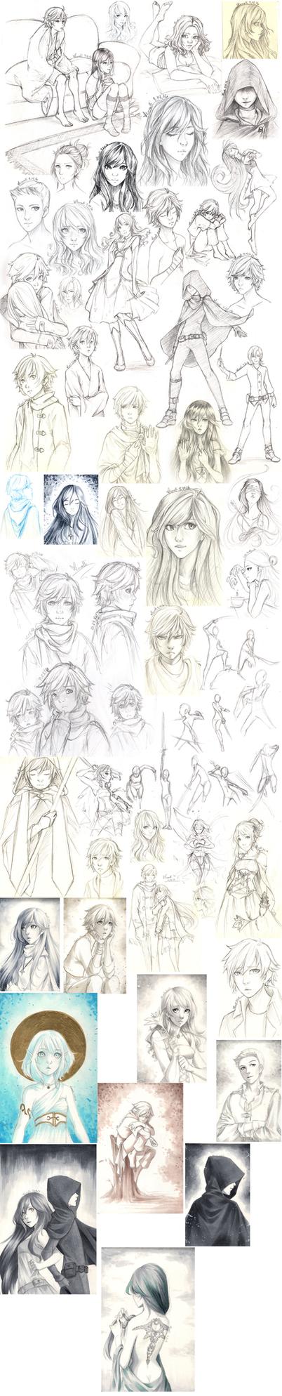 Sketch Dump 5 by Lunalli-Chan