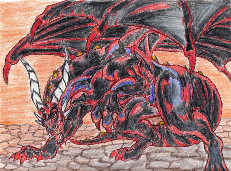 dark dragon by Twylyght99