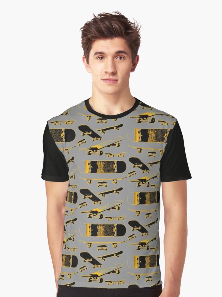 Skateboards Graphic T-Shirt by Azza-Ku